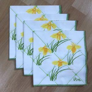 Vintage Vera Neumann Flower Cloth Napkins Set of 4